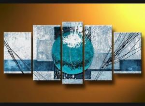 Tableaux design blue sphere