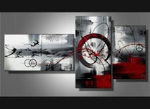Tableaux triptyque abstrait design triptyque eva - Tableau peinture triptyque ...