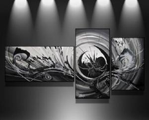 triptyque design gris noir. Black Bedroom Furniture Sets. Home Design Ideas