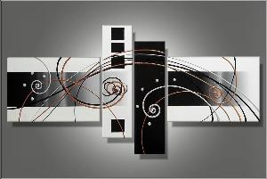 Tableau abstrait Black & White trendy