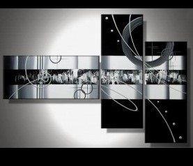 tableaux abstrait design triptyque eva. Black Bedroom Furniture Sets. Home Design Ideas