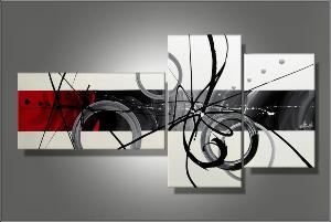 tableaux abstrait design triptyque eva. Black Bedroom Furniture Sets. Home Design Ideas