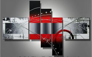 Tableaux design Art  Red felling