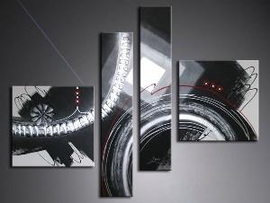 tableaux abstrait mont blanc