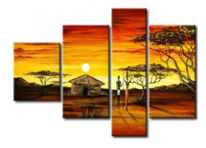Tableau cases africaines design