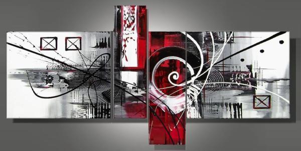 tableau moderne roses rouge