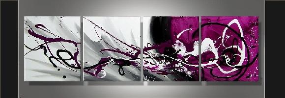 Tableaux design abstrait tableau Eva Jekins 100% peint main