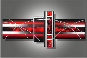 Tableau Red Silver design
