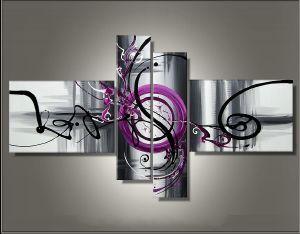 Tableaux design abstrait en 4 toiles moderne for Tableaux en plusieurs parties