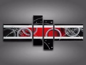 tableau moderne rouge et blanc. Black Bedroom Furniture Sets. Home Design Ideas