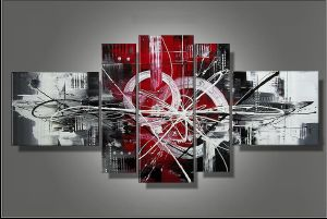 Tableaux design five red