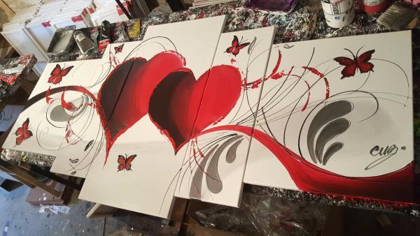 Tableau design Red butterfly