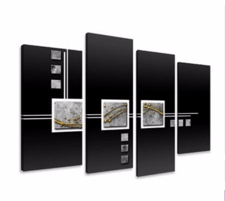 Tableaux abstrait design triptyque metal abstrait eva - Tableau design metal ...