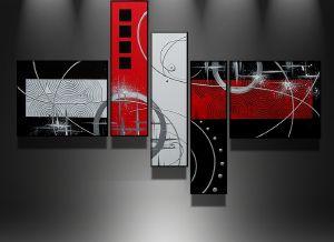 Tableaux abstrait design triptyque eva - Deco tableaux design ...