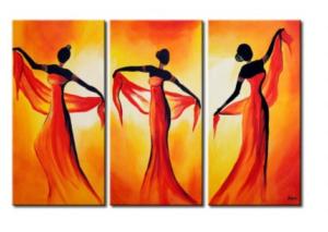 tableau africain orange
